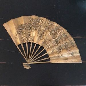 Vintage Brass Fan Phoenix